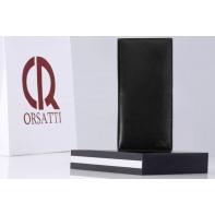 Receptownik (receptariusz) Orsatti R01 w kolorze czarnym, skóra