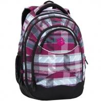 Superlekki plecak szkolny Bagmaster w kratę