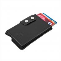 Usztywnione etui na karty RFID Orsatti czarne