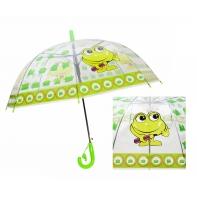 Automatyczna - przezroczysta głęboka parasolka dziecięca, żabka